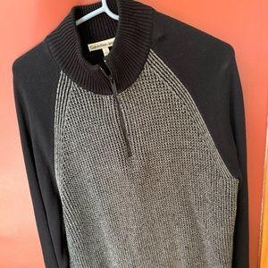 Men's wool quarter zip sweater.
